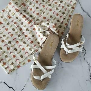 Sunjuns White Sandals